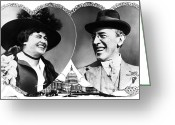 Edith Greeting Cards - Woodrow And Edith Wilson Greeting Card by Granger