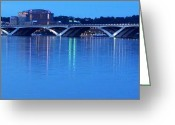 Beltway Greeting Cards - Woodrow Wilson Bridge  Greeting Card by CK Knudson