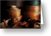 Picker Greeting Cards - Woodworker - Shaker box shop  Greeting Card by Mike Savad