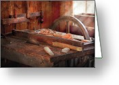 Thank You Greeting Cards - Woodworker - The Table Saw Greeting Card by Mike Savad