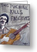 Woody Guthrie Greeting Cards - Woody Guthrie Greeting Card by Karl Haglund
