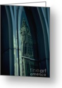 Woolworth Building Greeting Cards - Woolworth Building Reflection Greeting Card by Mark Gilman