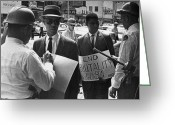 Civil Rights Greeting Cards - Woolworths Protest, 1963 Greeting Card by Granger
