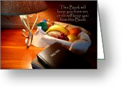 Holy Napkin Photo Greeting Cards - Word of God Greeting Card by Cindy Wright