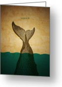 Bible Digital Art Greeting Cards - WordJonah Greeting Card by Jim LePage