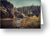 River Digital Art Greeting Cards - Words Left Unspoken Greeting Card by Laurie Search