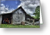 Farm Greeting Cards - Work is all done Greeting Card by Pete Hellmann