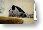 Rural Decay  Digital Art Greeting Cards - Work Wanted Greeting Card by Julie Hamilton