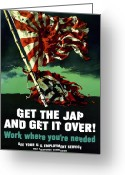 United States Flag Greeting Cards - Work Where Youre Needed Greeting Card by War Is Hell Store