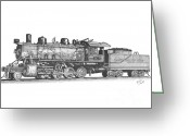 Coal Burner Greeting Cards - Working Steam Engine Greeting Card by Calvert Koerber