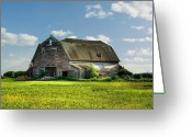 Barn Images Greeting Cards - Working This Old Barn Greeting Card by Gary Smith