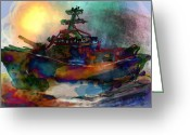 Jim Thomas Greeting Cards - Working Vessel Greeting Card by James Thomas
