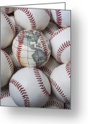 Game Greeting Cards - World baseball Greeting Card by Garry Gay