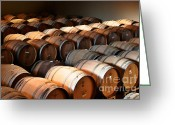 Cask Greeting Cards - World-class wine is made in California Greeting Card by Christine Till