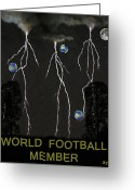 Rugby World Cup Greeting Cards - World Football Member Greeting Card by Eric Kempson