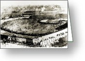 Boston Stadium Greeting Cards - World Series, 1903 Greeting Card by Granger