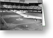 Brooklyn Dodgers Stadium Greeting Cards - World Series, 1941 Greeting Card by Granger