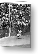 Brooklyn Dodgers Stadium Greeting Cards - World Series, 1955 Greeting Card by Granger