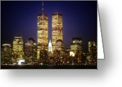 Cities Greeting Cards - World Trade Center Greeting Card by Gerard Fritz