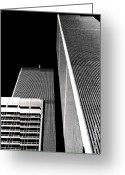Debbie Johnson Greeting Cards - World Trade Center Pillars Greeting Card by Deborah  Crew-Johnson