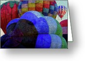 Hot Air Balloon Mixed Media Greeting Cards - World Traveler Greeting Card by Bonnie Bruno