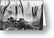 1918 Greeting Cards - World War I: Battlefield Greeting Card by Granger