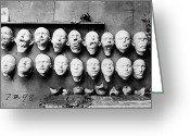 1918 Greeting Cards - World War I: Masks, 1918 Greeting Card by Granger