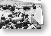 Carousel Collection Greeting Cards - World War Ii D-day 1944 Greeting Card by Granger