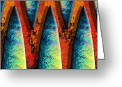 Web Digital Art Greeting Cards - World Wide Web Greeting Card by Paul Wear