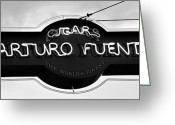 Neon Sign Greeting Cards - Worlds Finest Cigar Greeting Card by David Lee Thompson