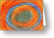 Featured Greeting Cards - Worm Hole Greeting Card by Buddy Paul