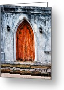 Christopher Holmes Greeting Cards - Worn Door Greeting Card by Christopher Holmes