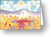 Charismatic Greeting Cards - Worship God In Spirit and Truth Greeting Card by Audrey Peaty