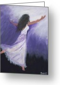 Portriat Greeting Cards - Worship Greeting Card by Maggie  Morrison