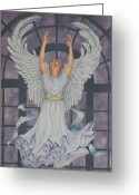 Ruth Gee Greeting Cards - Worship Greeting Card by Ruth Gee