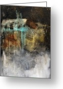 Abstract Contemporary Art Greeting Cards - Worth A Shot Greeting Card by Michel  Keck