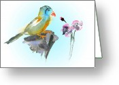 Sumi Greeting Cards - Would You Care To Dance With Me Greeting Card by Miki De Goodaboom