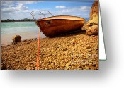 Rowboat Greeting Cards - Wrack Greeting Card by Carlos Caetano