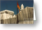 Roswitha Schmuecker Greeting Cards - wrapped Reichstag 1 Greeting Card by Roswitha Schmuecker