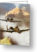 Fighter Jets Greeting Cards - Wrath of the Warthog Greeting Card by Dieter Carlton