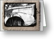 Old Car Pyrography Greeting Cards - Wreck 2 Greeting Card by Mauro Celotti