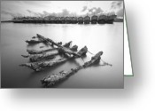 Photographs Digital Art Greeting Cards - Wreck Greeting Card by Teerapat Pattanasoponpong