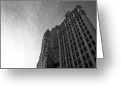 Trump Greeting Cards - Wrigley Building II Greeting Card by Jane Melgaard