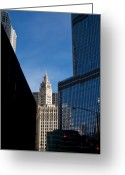 Trump Greeting Cards - Wrigley Building Greeting Card by Jane Melgaard