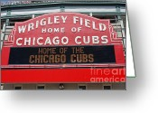 Wrigley Greeting Cards - Wrigley Field Greeting Card by Steve Sturgill