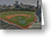 Wrigley Field Greeting Cards - Wrigley in Spring Greeting Card by David Bearden