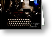 Typewriters Greeting Cards - Writing Back to the German Forties Greeting Card by Steven  Digman