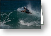 Boogie Board Greeting Cards - Wrong Side Up Greeting Card by Roger Mullenhour