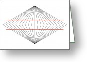 Trick Greeting Cards - Wundt Illusion Greeting Card by