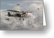 Raf Greeting Cards - WW1 RE8 Aircraft Greeting Card by Pat Speirs